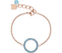 Armband aus Edelstahl mit Swarovski-Stein