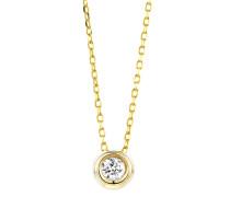 Halskette aus 375 Gold mit 0.10 Karat Diamant