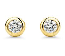 Ohrstecker aus 333 Gold mit 0.10 Karat Diamanten