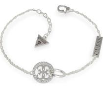Guess Damen-Armband EMBRACE CIRCLES&PAVE 4G BR(RH) Edelstahl