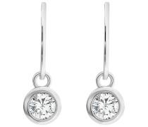 JETTE Silver Damen-Ohrhänger 925er Silber 2 Zirkonia