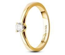 Ring aus 585 Gold mit 0.15 Karat Diamant-52