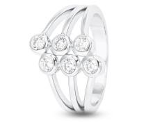 Ring aus 925 Sterling Silber mit Zirkonia-54