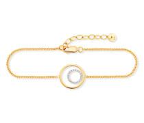Armband Solar Orbit aus vergoldetem 925 Sterling Silber mit Topasen