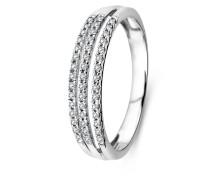 Ring aus 375 Weißgold mit 0.17 Karat Diamanten-52