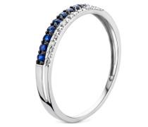 Ring aus 375 Weißgold mit 0.01 Karat Diamanten & Saphiren-50