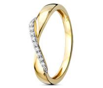 Ring aus 375 Gold mit 0.09 Karat Diamanten-52