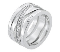 JETTE Silver Damen-Damenring 925er Silber Zirkonia