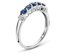Ring aus 375 Weißgold mit 0.05 Karat Diamanten & Saphiren-52