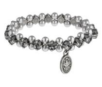 Armband Pearl Shadow aus Metall mit Glassteinen & Kunstperlen