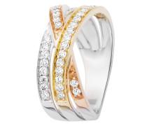 Ring aus 375 Tricolor-Gold mit 0.50 Karat Diamanten-05