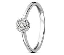 Ring aus 375 Weißgold mit 0.09 Karat Diamanten-52