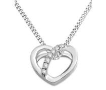Halskette 'Herz' aus 375 Weißgold mit Diamanten
