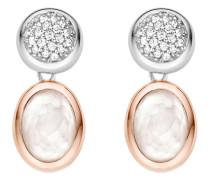 Ohrhänger aus 925 Sterling Silber mit Kristallen und Zirkonia