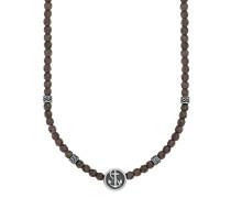 Halskette aus Edelstahl mit Hämatiten