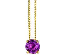 Halskette aus 585 Gold mit Amethyst
