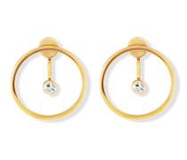Ohrstecker Ear Jackets Solar Orbit aus vergoldetem 925 Sterling Silber mit Topasen
