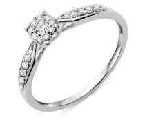 Ring aus 375 Weißgold mit 0.20 Karat Diamanten-09