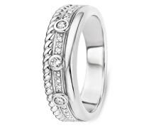 Ring aus 925 Sterling Silber mit Zirkonia & Kristallen-50
