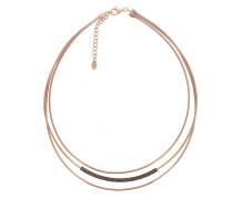 Halskette aus Sterling Silber rosévergoldet