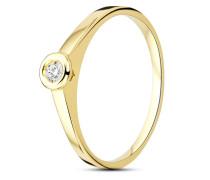 Ring aus 375 Gold mit 0.1 Karat Diamant-50