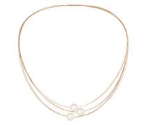 Halskette aus Edelstahl mit Akoya-Zuchtperlen