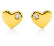Ohrstecker aus 375 Gold mit Diamanten