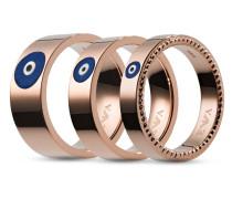 Set mit Ringen aus Edelstahl-53