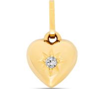 Anhänger Herz aus 375 Gelbgold