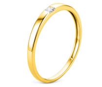 Ring aus 375 Gold mit 0.06 Karat Diamant-50