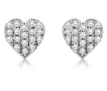Ohrstecker aus 375 Weißgold mit 0.14 Karat Diamanten
