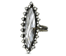 Ring Global Glam aus Metall mit Glassteinen