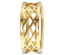 Ring aus vergoldetem 925 Sterling Silber-50