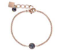 Coeur de Lion Damen-Armband Edelstahl/Edelstahl/Roségold Swarovski Kristalle