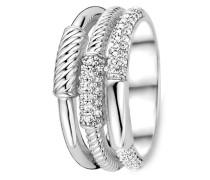 Ring aus 925 Sterling Silber mit Zirkonia -50