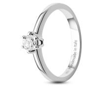 Ring aus 585 Weißgold mit 0.25 Karat Diamant-54