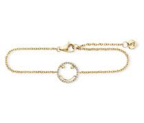 Armband Smileys aus vergoldetem 925 Sterling Silber mit Zirkonia