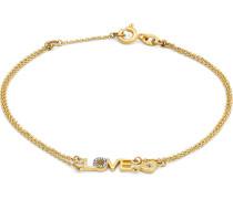 Armband Love aus 375 Gelbgold