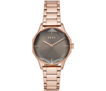 DKNY Damen-Uhren Analog Quarz