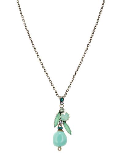 Halskette Fiancee aus Metall mit Glassteinen
