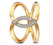 Ring Fluid Curves aus vergoldetem 925 Sterling Silber mit Topasen-54