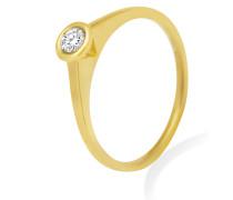Ring aus 375 Gold mit 0.15 Karat Diamant-52