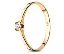 Ring aus 585 Gold mit 0.065 Karat Diamant-52