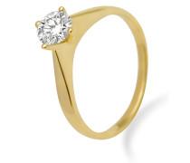 Ring aus 585 Gold mit 0.5 Karat Diamant-56