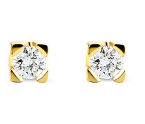 Ohrstecker aus 585 Gold mit 0.10 Karat Diamanten