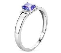 Ring aus 375 Weißgold mit 0.02 Karat Diamanten & Tansanit-52