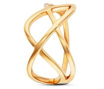 Ring Fluid Curves aus vergoldetem 925 Sterling Silber-50