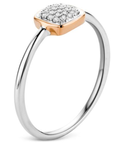 Ring aus 375 Bicolor-Gold mit 0.06 Karat Diamanten-54