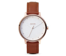 Quarzuhr Kensington Leather A108 1045-00 Rose Gold / White