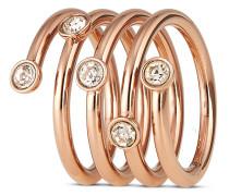 Ring Brilliance aus Edelstahl-55